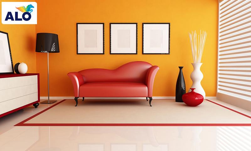 Gam màu nóng đem lại nhiều năng lượng cho căn phòng