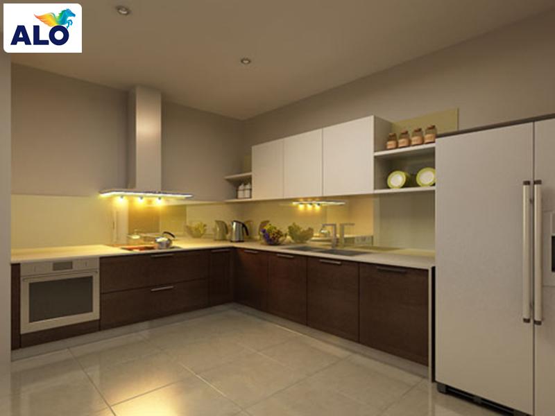 Các gam màu trung tính cũng giúp cho phòng bếp đẹp hơn, ấm cúng hơn