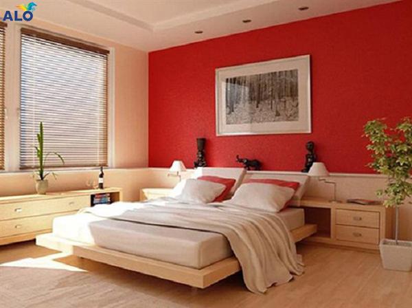 Tông màu chủ đạo phòng ngủ của vợ chồng mệnh Hỏa