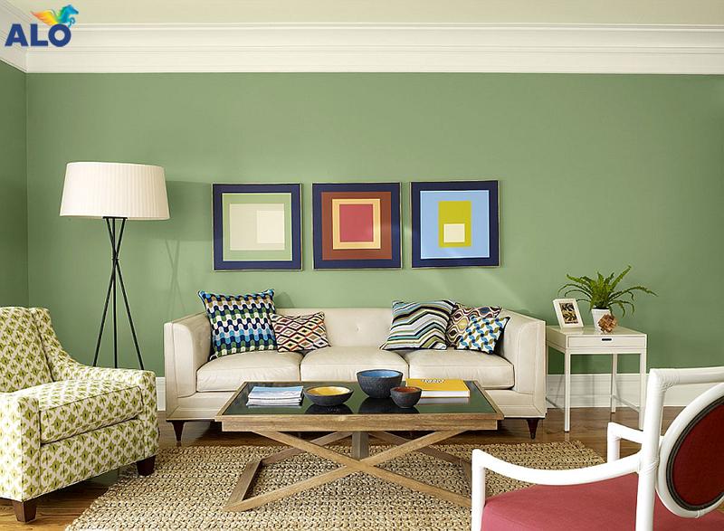 Phối hợp hài hòa giữa màu sơn tường và đồ nội thất