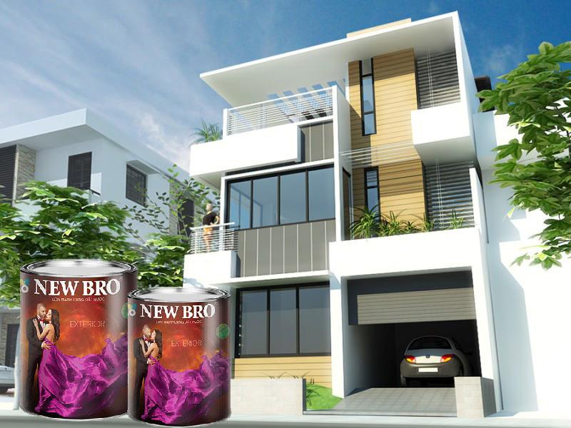 Sơn ngoại thất cao cấp tạo bảo về ngôi nhà bạn được tốt hơn