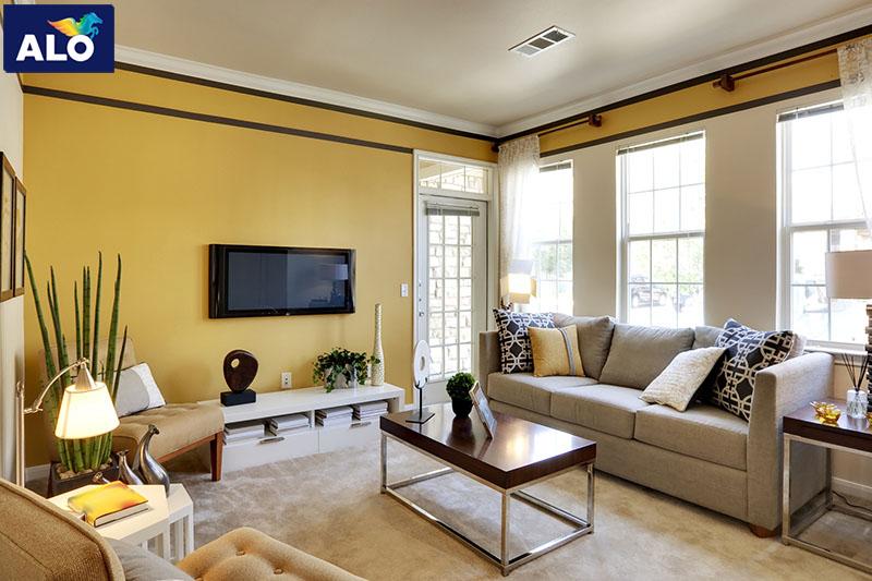 Lựa chọn màu sơn nội thất hợp phong thủy