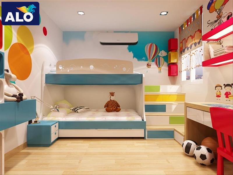 Màu sơn tường phòng ngủ cho bé trai
