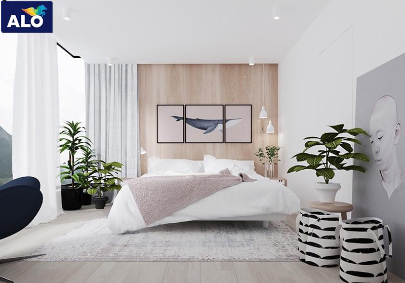 Không gian phòng ngủ được thiết kế theo phong cách Minimalism