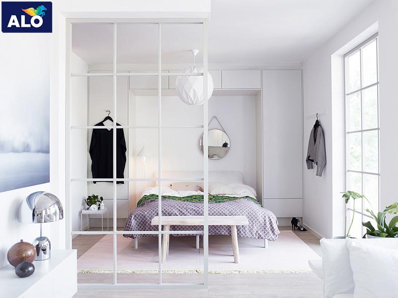 Sử dụng màu sắc nới rộng không gian phòng ngủ