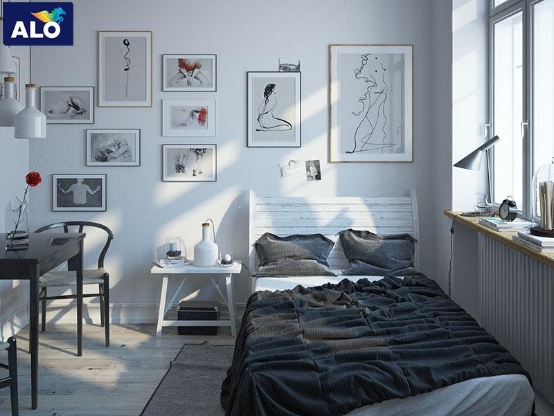 Sử dụng đồ nội thất đơn giản rất phù hợp với phong cách Scandinavian