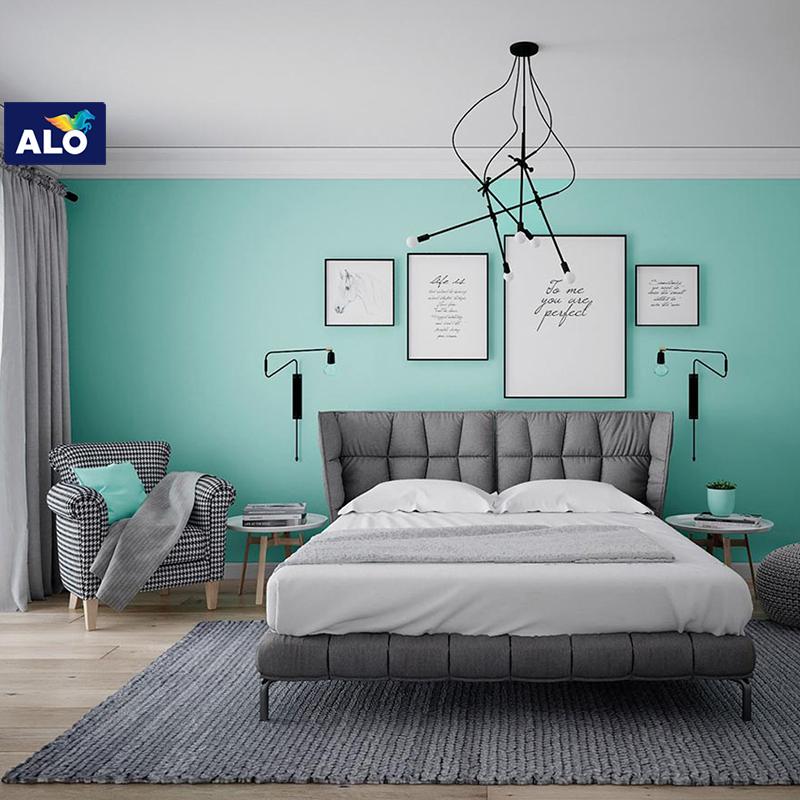Màu xanh bạc hà dành cho phòng ngủ