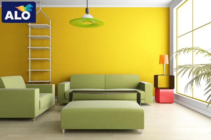 Tông màu vàng mang lại sức sống tràn đầy năng lượng cho ngôi nhà