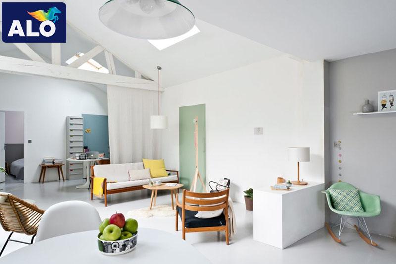 Màu trắng luôn là gam màu làm sáng không gian nhà bạn