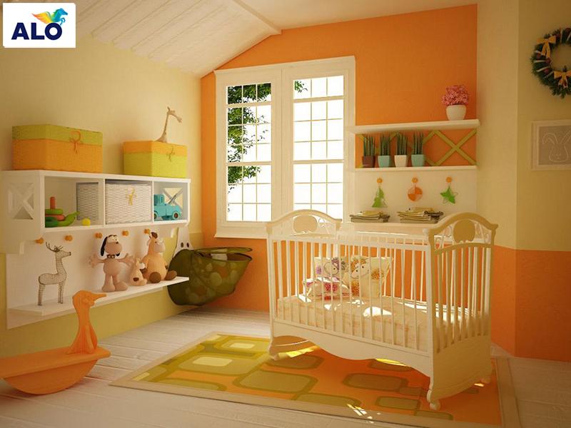 Gam màu cam giúp trẻ năng động, giao tiếp được tốt hơn