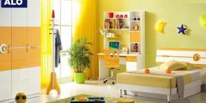 Gam màu vàng mang lại sự vui vẻ năng động cho bé