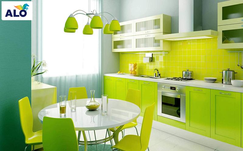 Sử dụng gam màu mát dành cho căn bếp