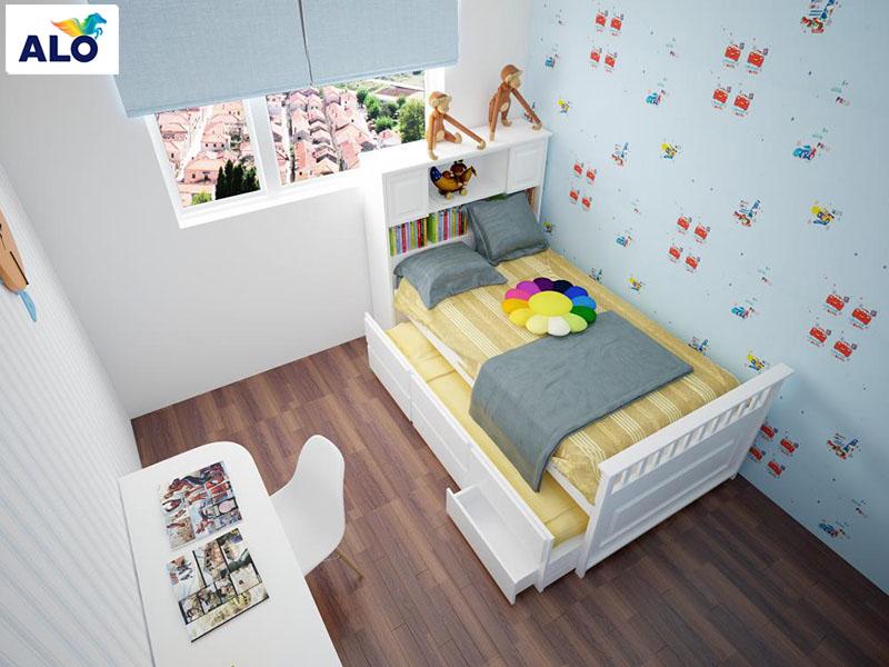 Phòng ngủ dành cho trẻ nhỏ cần đang dạng về màu sắc, hình ảnh
