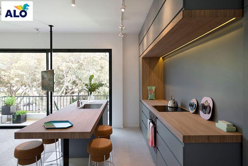Màu sắc nhẹ nhàng luôn là sự ưu tiên số 1 cho không gian nhà bếp