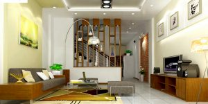 Sử dụng màu vàng nhạt giúp tăng lượng ánh sáng căn phòng