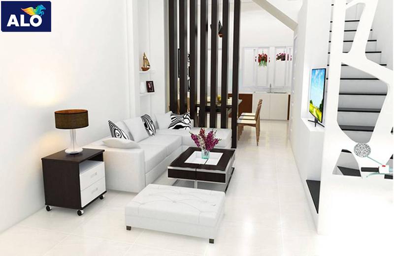 Sơn tường màu trắng luôn là sự lựa chọn với các căn nhà ống