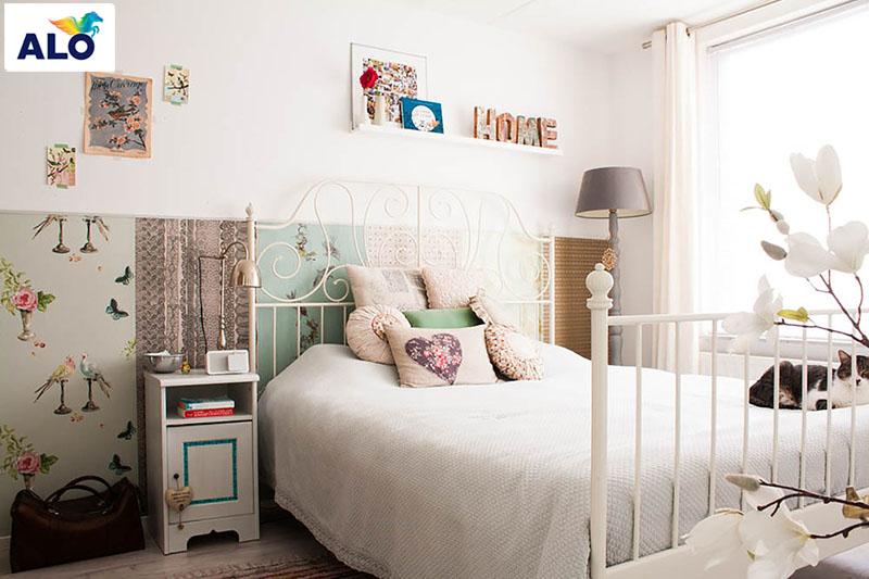 Phòng ngủ với diện tích chật hẹp hãy lựa chọn những món đồ tốn ít không gian