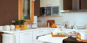 Tông màu socola rất phù hợp với căn bếp nhà bạn