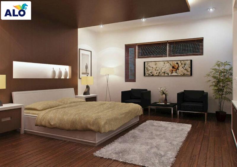 Tông màu socola phù hợp với không gian phòng ngủ