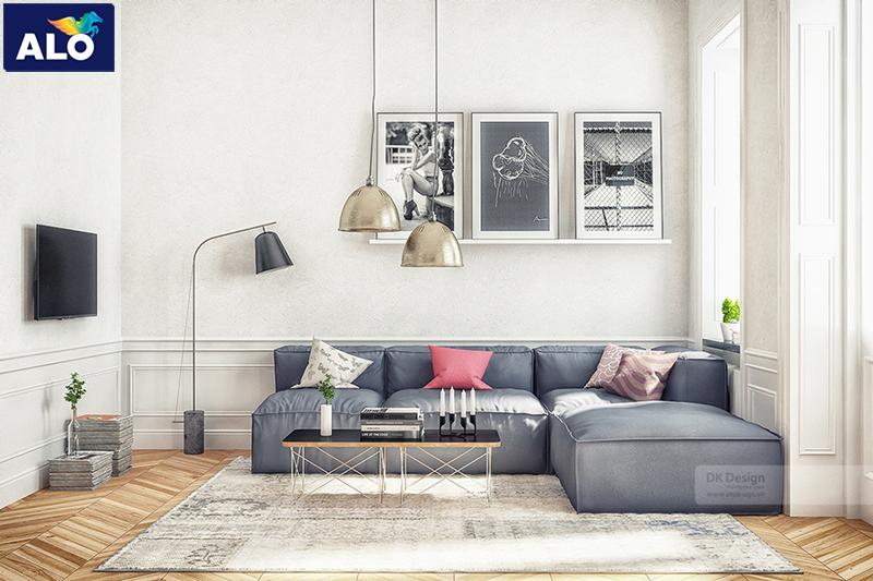 Thiết kế phòng khách theo phong cách mở phù hợp với căn nhà chung cư