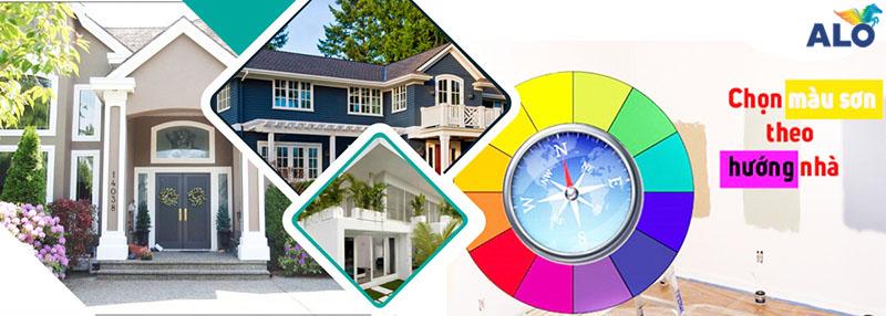 Chọn màu sơn theo hướng nhà cần chú ý gì