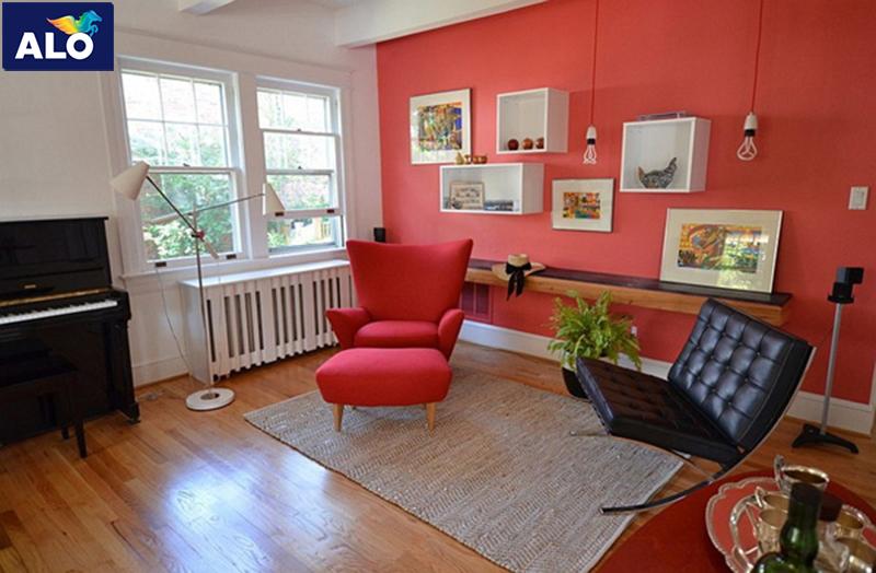 Cách sử dụng gam màu đỏ hiệu quả trong thiết kế nội thất