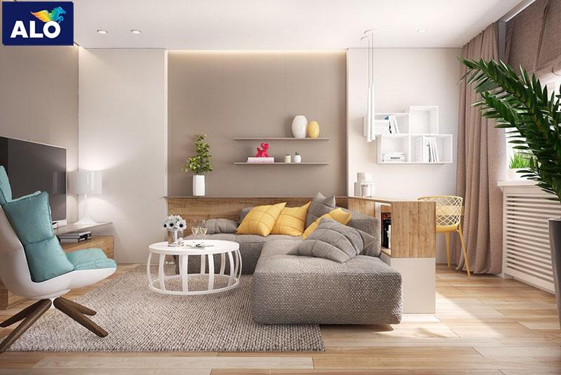 Gam màu nhẹ nhàng dành cho tường nhà và ghế sofa