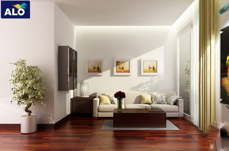 Phối hợp màu sơn tường và ghế sofa đồng màu