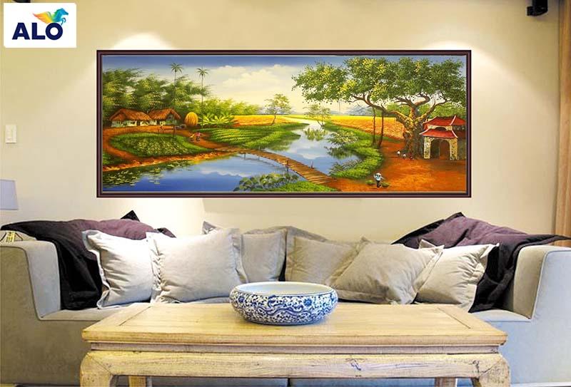 Lựa chọn tranh treo tường phòng khách hợp phong thủy
