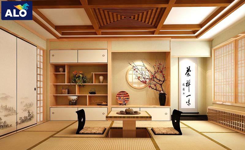 Trang trí phòng khách theo phong cách Nhật