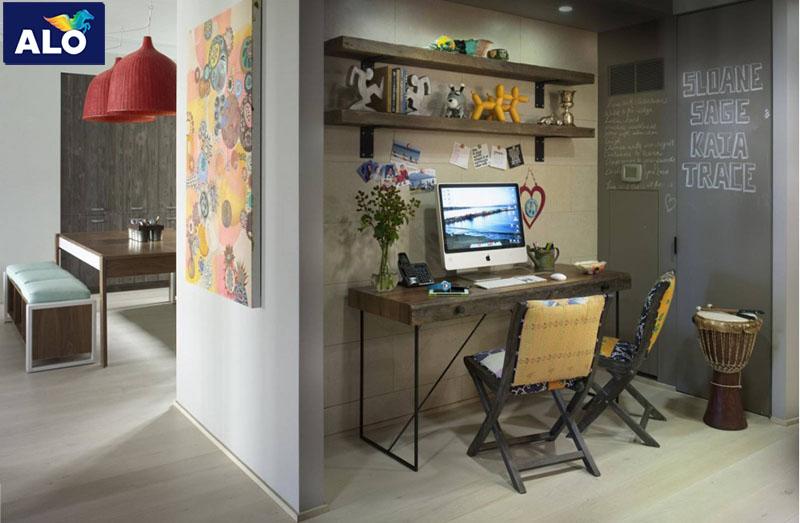Sử dụng màu trung tính cho không gian làm việc giúp bạn tập trung vào công việc tốt hơn.