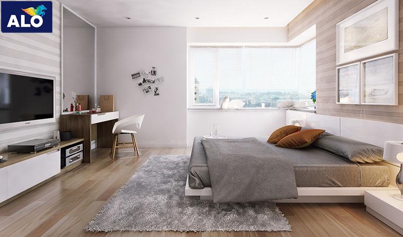 Màu trung tình dùng cho phòng ngủ