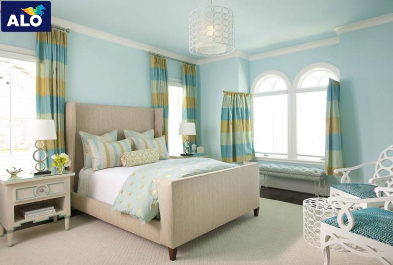 Phòng ngủ người Ất Hợi hãy chọn màu xanh nhạt