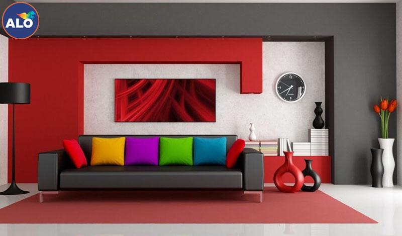 Hạn chế sử dụng màu đỏ trong không gian nhà bạn