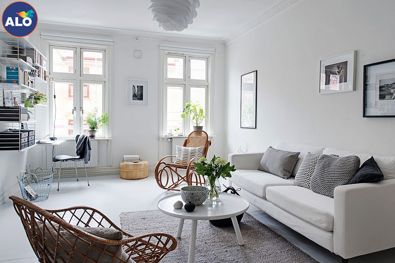 Sơn màu xám nhạt phù hợp với không gian sống nhà bạn