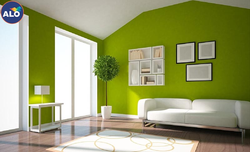 Sơn màu xanh lá phù hợp với mọi không gian