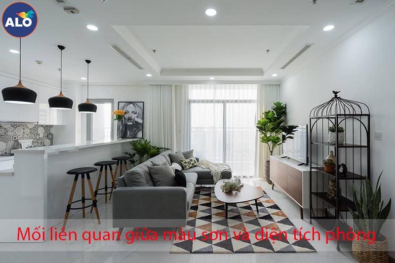 Ánh sáng, diện tích căn phòng ảnh hưởng gì đến việc chọn màu sơn
