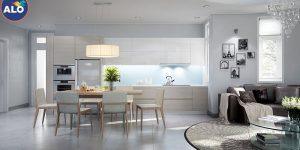 Với đồ nội thất màu trắng phù hợp với nhiều tông màu khác nhau