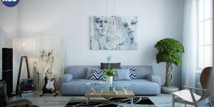 Gam màu trắng luôn giúp cho ngôi nhà bạn đẹp hơn thông thoáng hơn